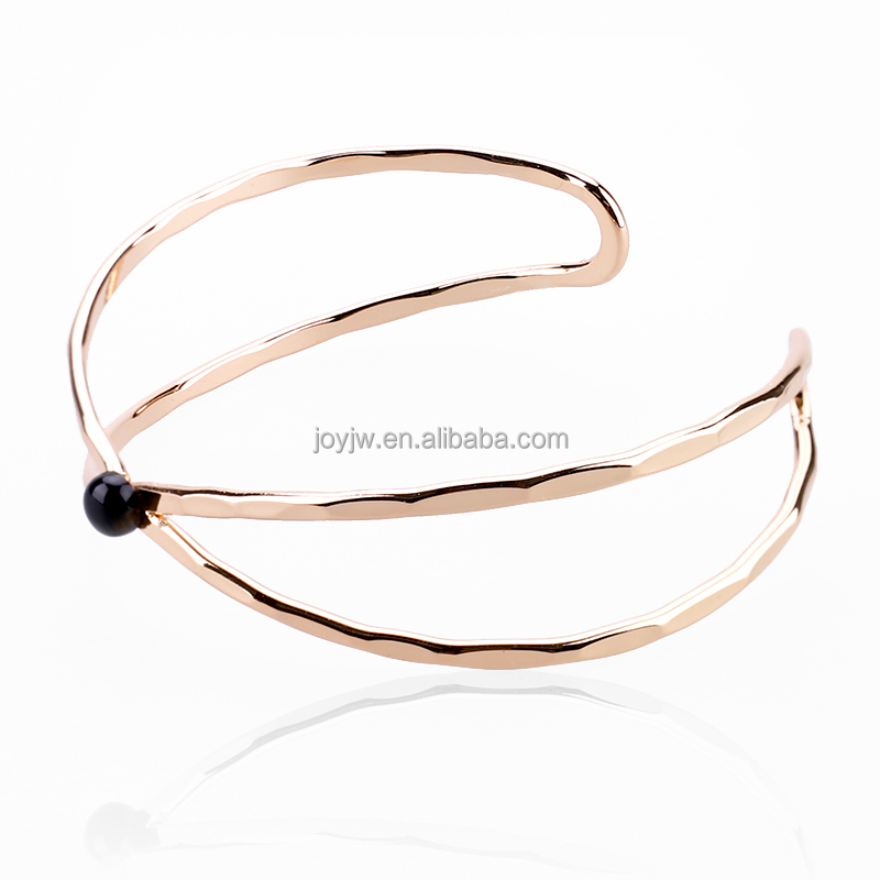 New Fahion Healing Gold Plated Cuff Bangle/Simple Design Ladies Cuff Copper Bangles