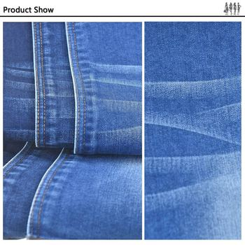 Stretch Denim Jeans Fabric Cloth Cotton Polyester Produced Roll ...