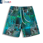 hangzhou sublimated printing 100% polyester trunks men swim shorts men's beach swimwear boys summer shorts