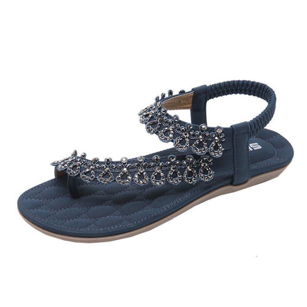 a01c88c6b0fb Get Quotations · Faber3 Hot Sale Sandals for Women-Women s Flat Sandals  Women Summer Bohemia Flower Beads Flip