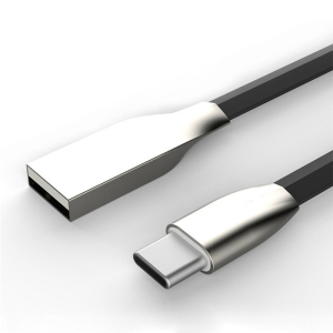 High Quality Flat Noodle TPE Zinc Alloy Head USB 3.1 Type C Cable