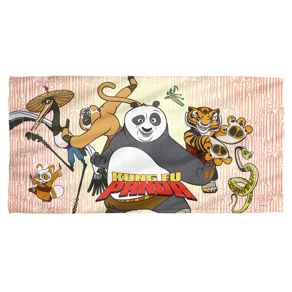 Trevco Kung Fu Panda Kung Fu Group Towel (30x60)