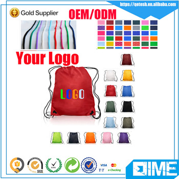 Stylish customized drawstring bag with your logo
