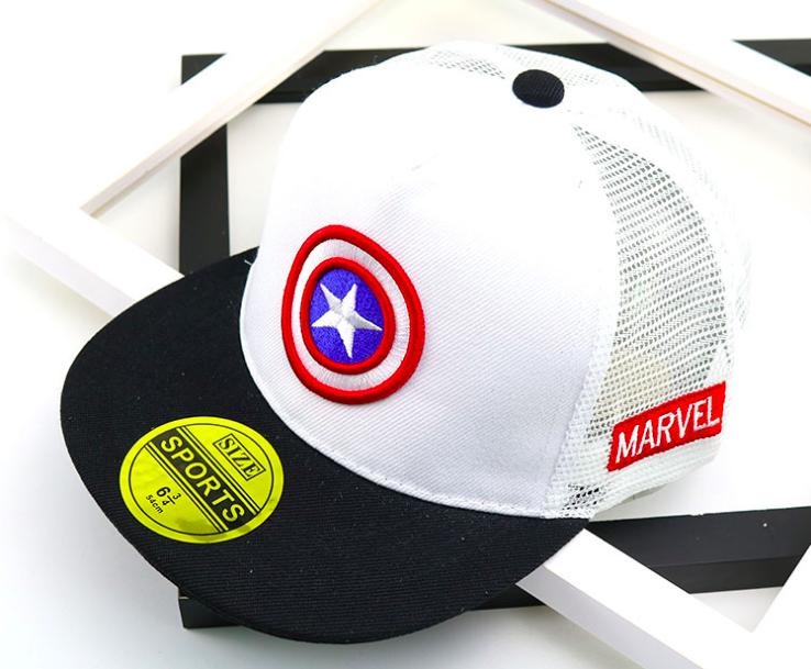 e8d817b6f2ee1d New captain America kid hat girl baseball cap casual cap marvel hero boy hip -hop
