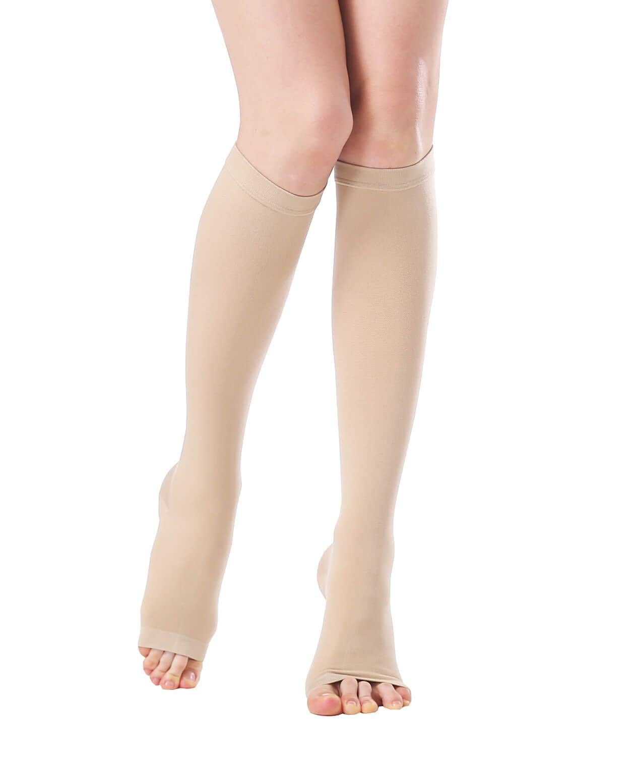 d600cd6ec36 Get Quotations · SWOLF Open Toe Knee High Compression Socks Women Men