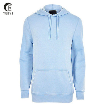 Light Blue French Terry Hoo Pullover Blank