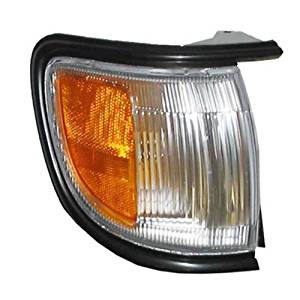1996-1999 Nissan Pathfinder (Built Before 11/98 Production Date) Corner Park Light Turn Signal Marker with BLACK Trim Right Passenger Side (1996 96 1997 97 1998 98 1999 99)