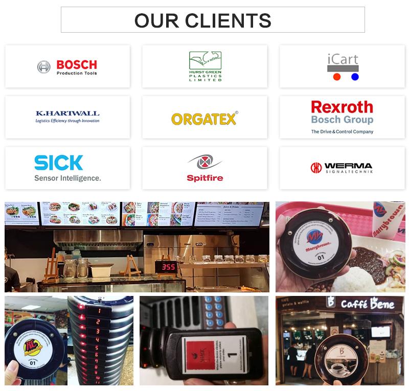 Smart Horloge Bell Service Tafel Bestelsysteem Draadloze Kelner-oproepsysteem voor Restaurants