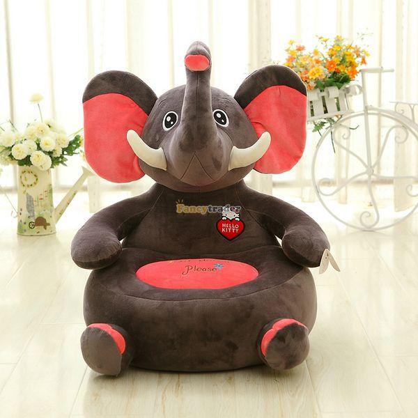 acheter fancytrader 50 cm x 50 cm super doux g ant en peluche l phant en. Black Bedroom Furniture Sets. Home Design Ideas