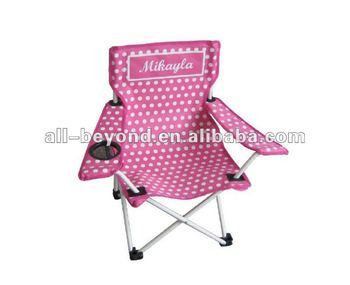 Pink Polka Dots Steel Beach Children Camping Chairs