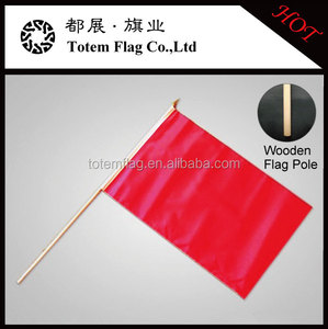 Plain Red Hand Flags , Red Plastic Flags
