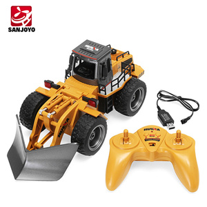 HuiNa 1586 1:18 6CH Radio control Snow/sand sweeper model Engineering Truck 2.4G Alloy toy car SJY-1586