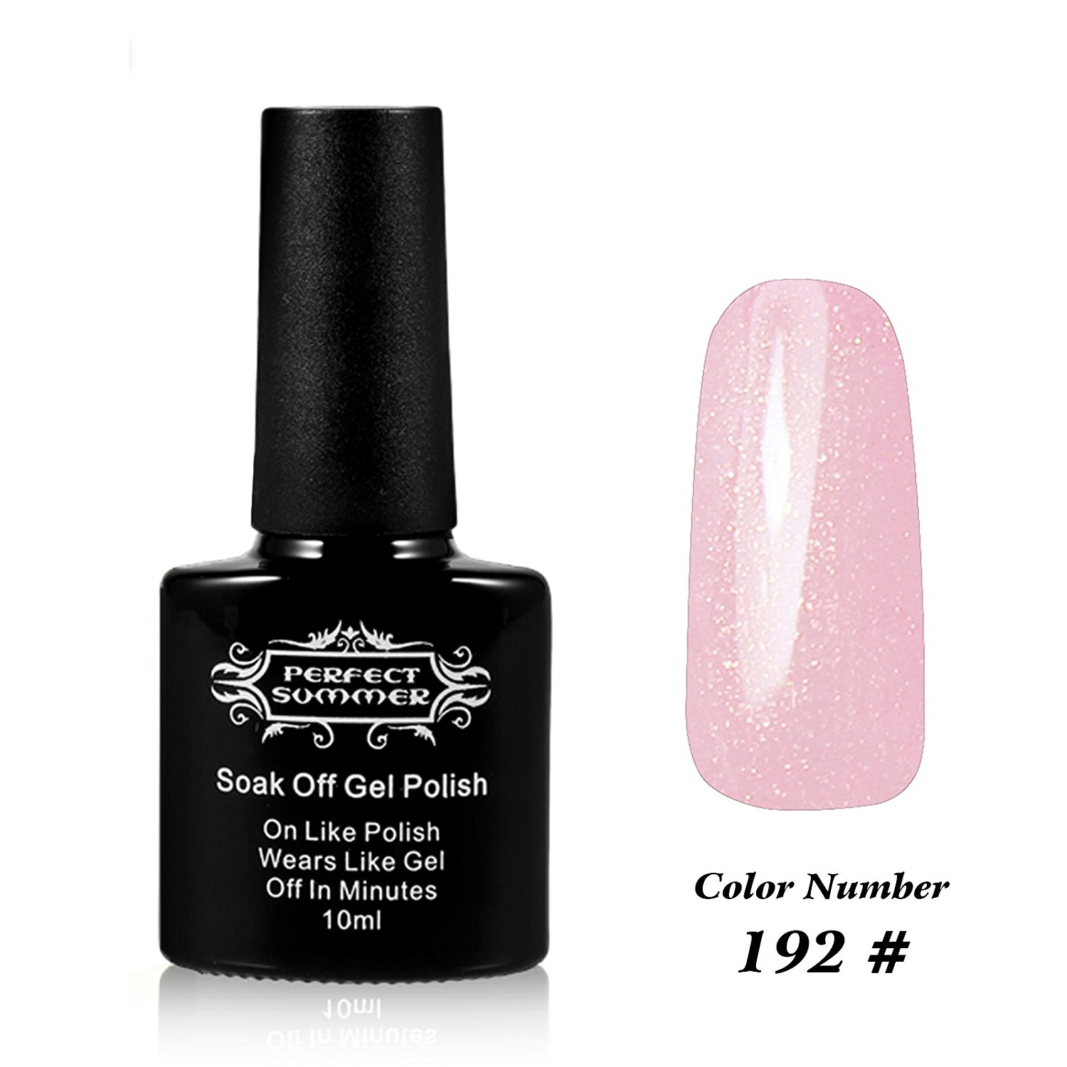 Perfect Summer Salon Nails Art Decoration Gift 10ml Gel Nails Polish UV Led Light Soak Off Creative French Manicure Nails Lacquers for Girls #192 light pink
