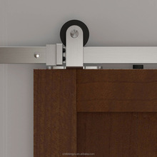 simple minimal nickel brushed carbon Steel Sliding barn Door hardware