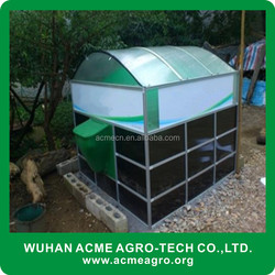 China supplier mini portable assembly biogas plant