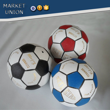 Middle East market recycle leather football, cheap laminated soccer ball