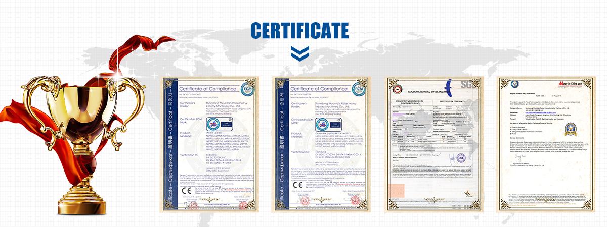 シャベル機 2.5ton 中国ホイールローダー認定