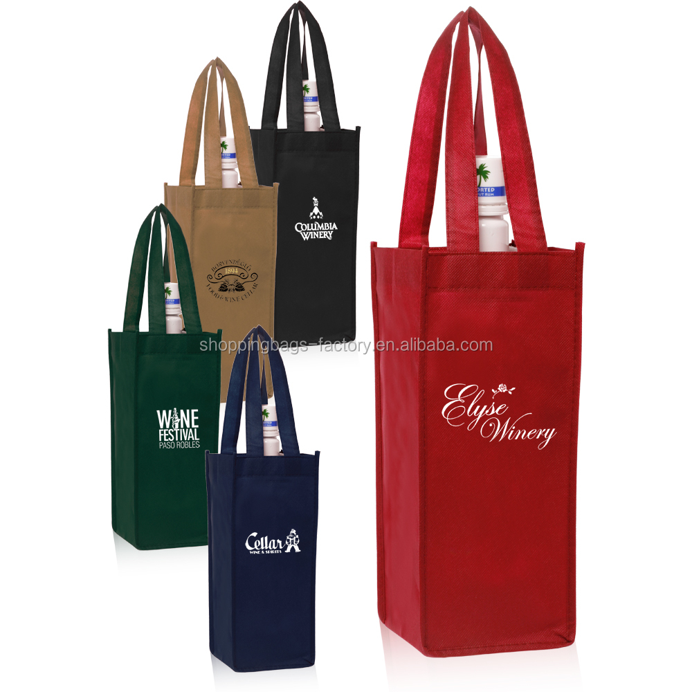 Small Non-Woven Vineyard One Bottle Customizable TNT Wine Bag