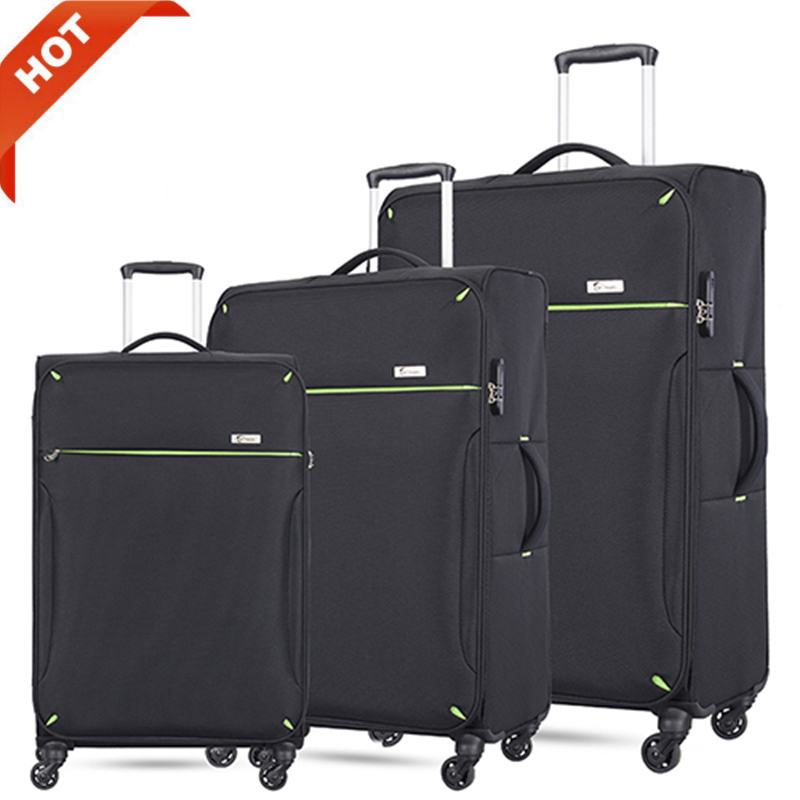Super lightweight soft spinner suitcase luggage