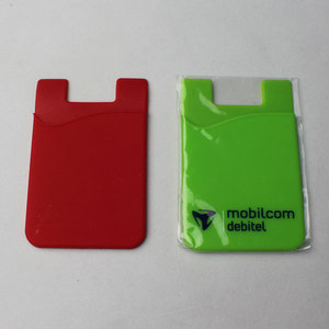 Cheap Adhesive Sticker Silicone Cell Phone Credit Card Holder