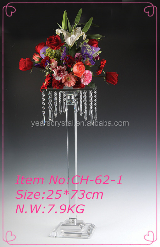 crystal centerpieces crystal glass candle holder wedding flower stands