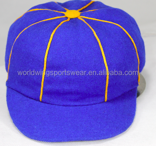Mens custom polyester and acrylic plain solid color baggy cricket cap