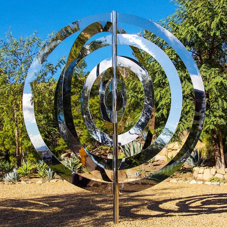 Modern Garden Art Sculpture Stainless Steel Mirror Polished Metal
