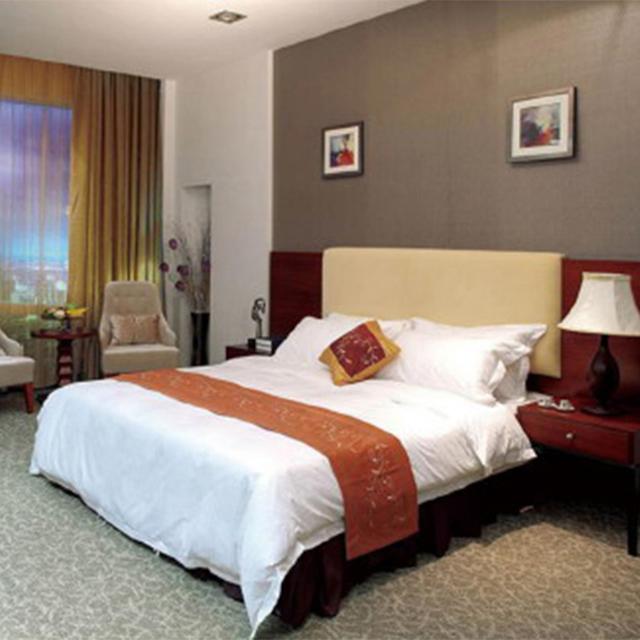 Economy Hotel Motel Bedroom Furniture Set,Modern Appearance Upholstered Beds