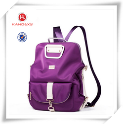 Professional Waterproof Nylon Charm Style Women Backpack