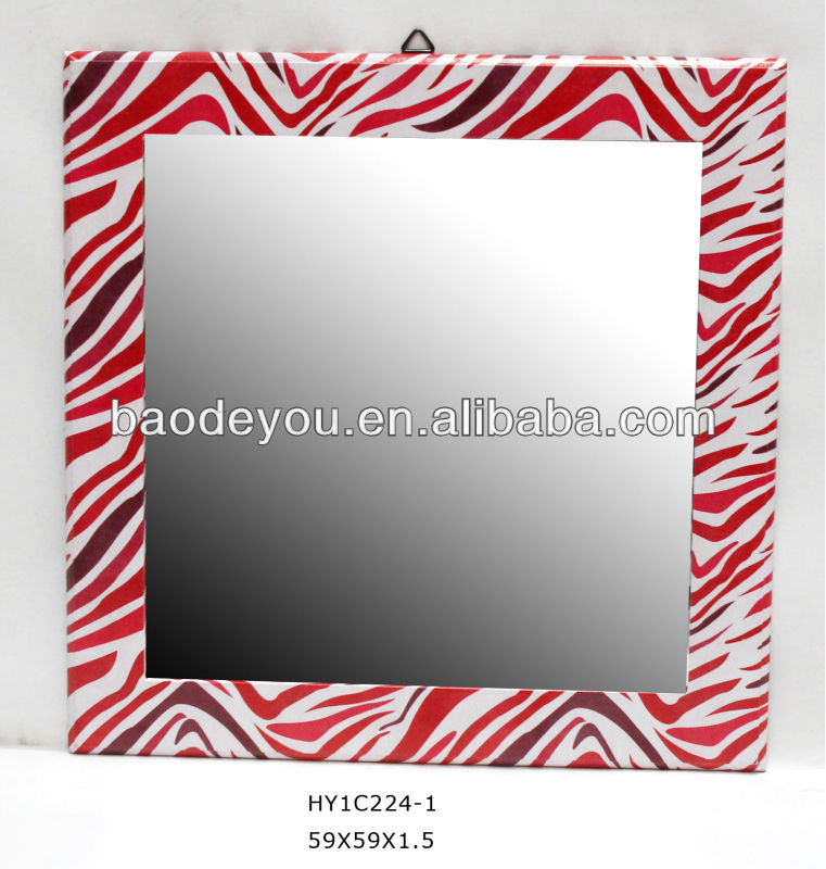 zebra-stripe design decorative wall mirror