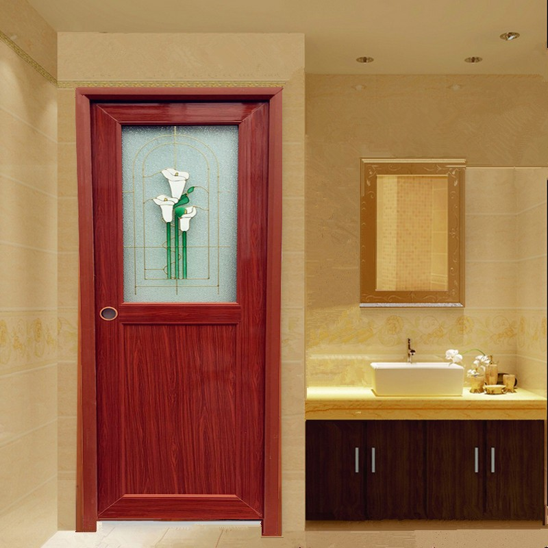 Durable Toilet Pvc Door Design Bathroom Glass Door Wk-p016 ...