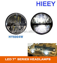 "7"" Round Led Headlight Jeep Wrangler Led Headlights Assembly powerful LED off-road light state-of-the art LEDs"