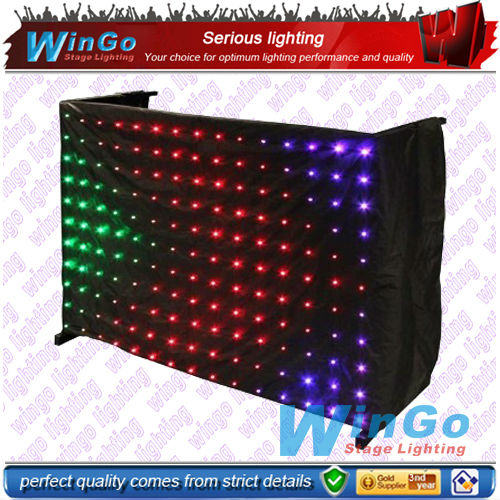 LED 5mm high brightness video curtain for wedding night club party disco curtain system