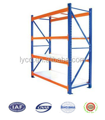 Luoyang factory direct supply light duty metal goods shelf steel warehouse storage rack