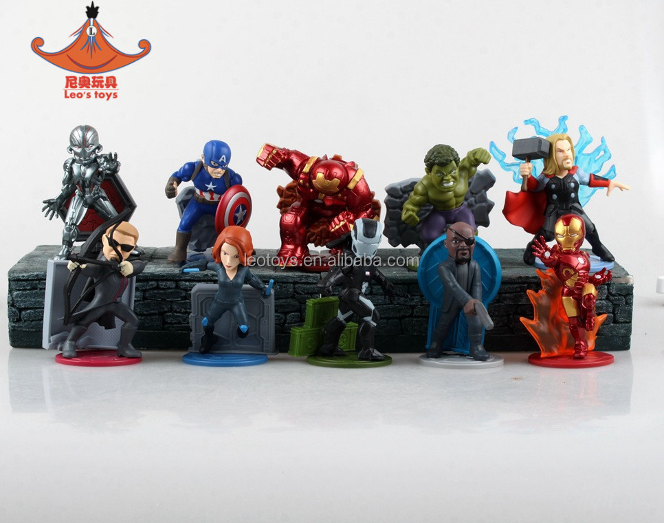 Hot toys 10 pieces Marvel PVC action figures super heros