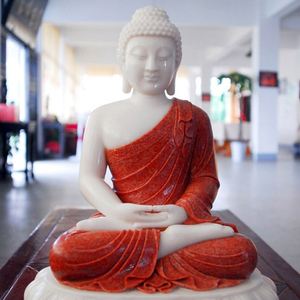 high quality pure hand carved religious buddhsim stone marble buddha statue for gift