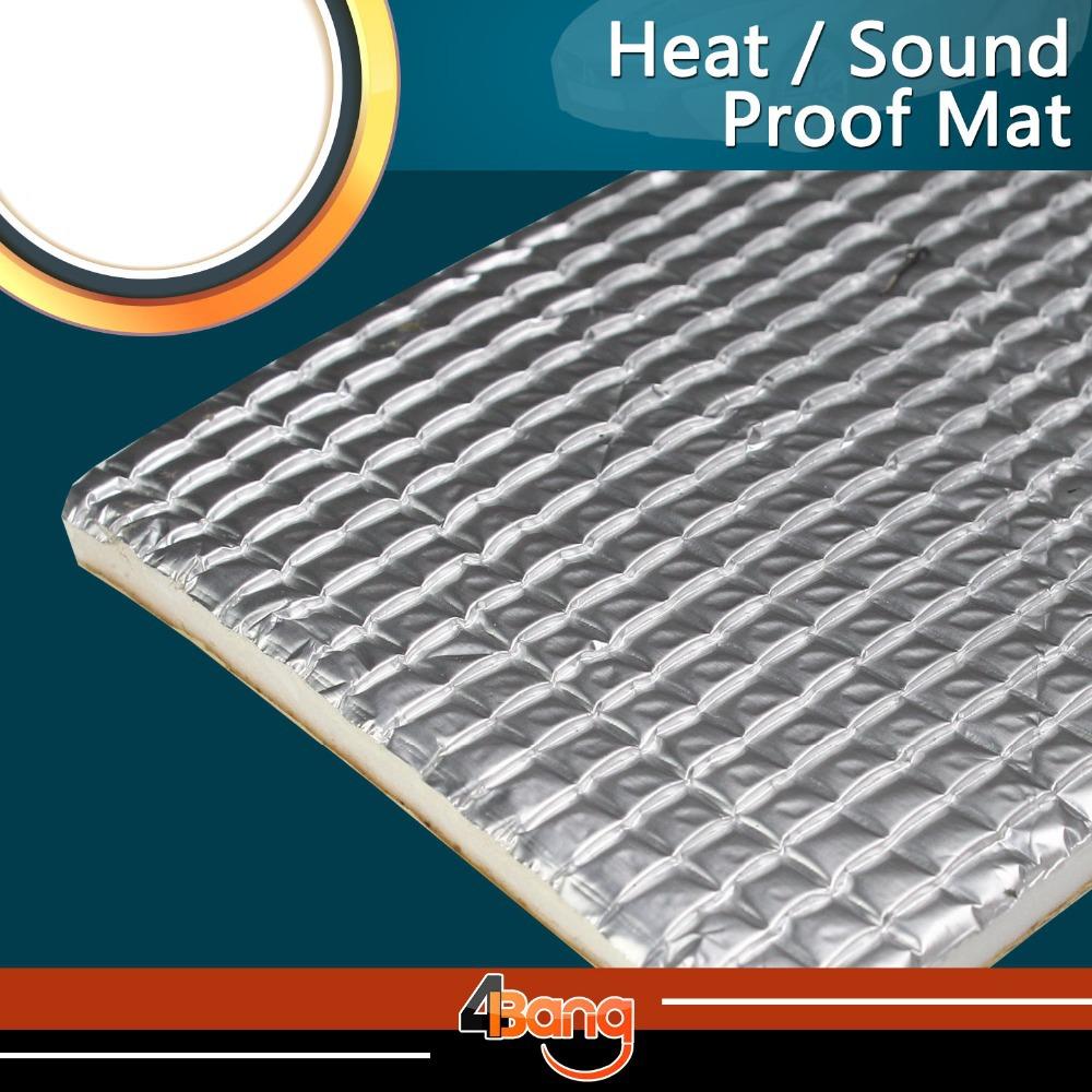 Быстрая доставка! Тепловая , звуковая щит фольга изоляция глушитель одеяло мат PAD капот автомобиля брандмауэр переднего крыла этаж 109 см x 98 см