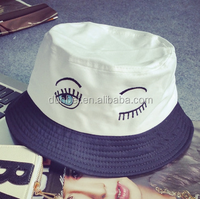 China factory custom wholesale 2015 new fashion 100% cotton eye embroidered bucket hat