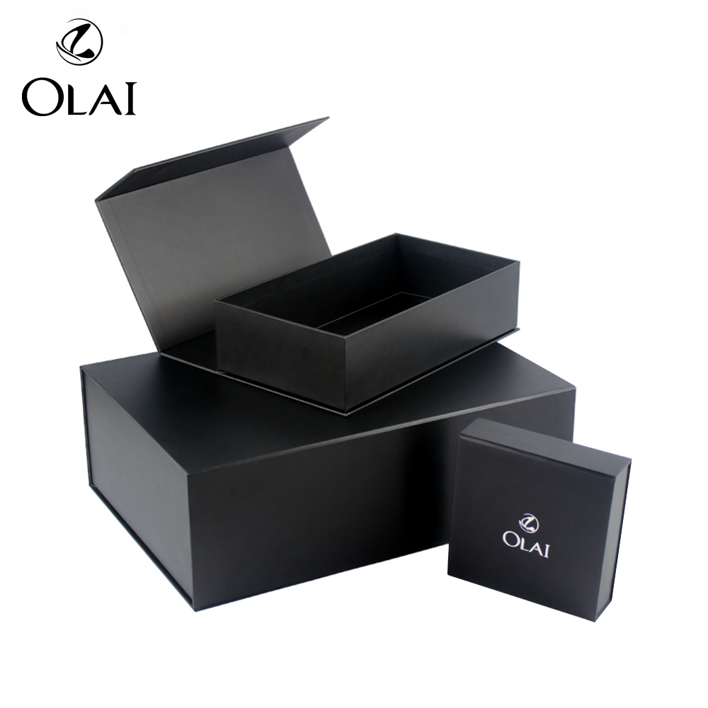 Hoge kwaliteit Custom Gift Rectangle Folding Paper Box met magneten sluiting