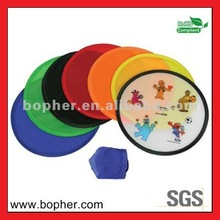 foldable nylon frisbee with pouch