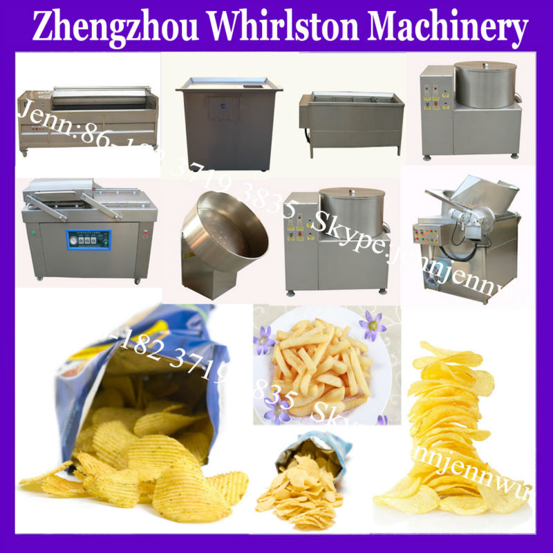 oil fried frozen chips plant/potato french fries processing line for sale