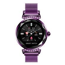 Женские Смарт-часы MNWT H2, модные часы с 3D алмазным циферблатом, Bluetooth, смарт-монитор сна, пульсометр, уведомления о звонках(Китай)