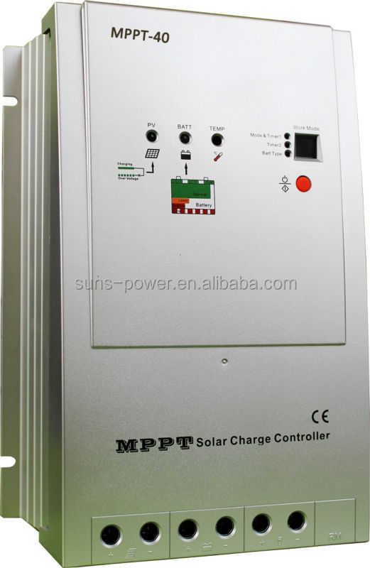 2017 new product Timer and battery type selection 12/24V 40A mppt solar charge controller