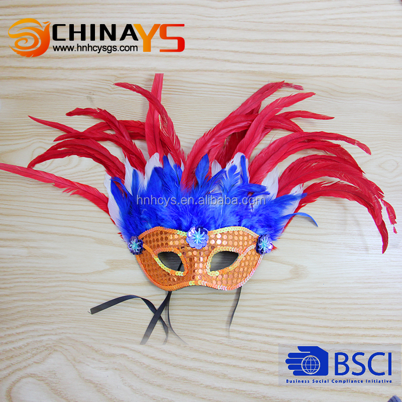 New arrival attractive female feather venetian carnival masks for party