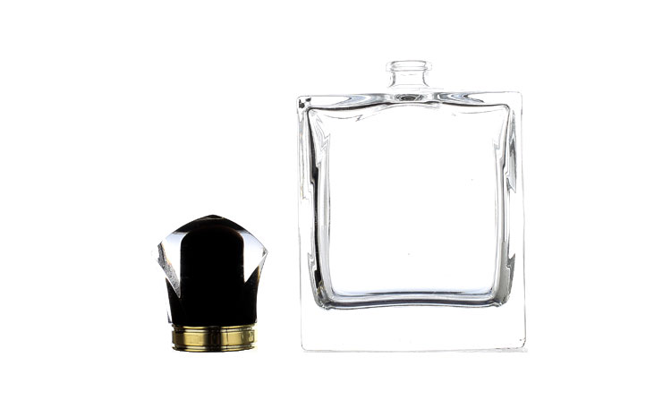 100ml glass perfume bottle, square spray perfume bottle free sample