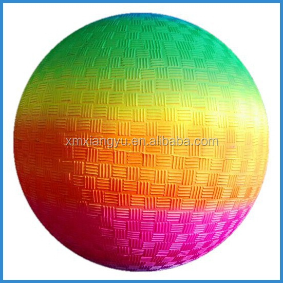 rainbow color Inflatable PVC kick balls, playground balls