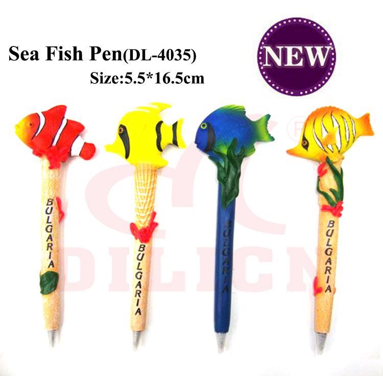 Promotional new design sea fish animal ballpoint pen