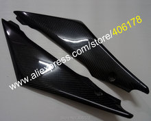 Hot Sales,2 x Carbon Fiber Tank Side Covers Panels Fairing For Suzuki GSXR1000 2005 2006 K5 GSXR 1000 Tank Side Cover Panel