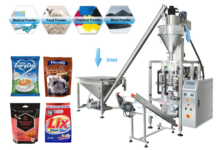Professional manufacture In Stainless Steel Automatic Vertical Washing Powder / Detergent Powder Packing Machine