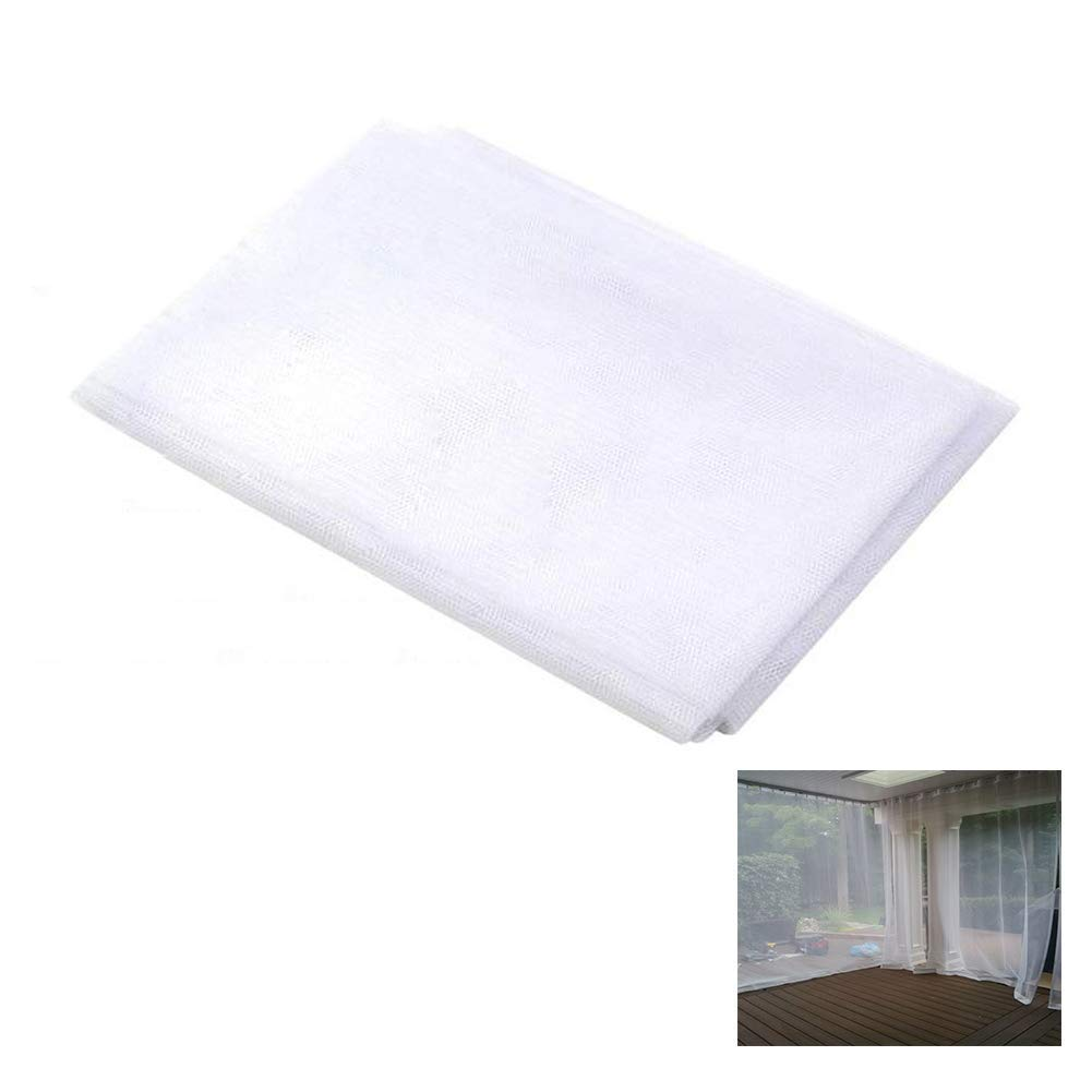 """Ecover Mosquito Net DIY Fabric Insect Pest Barrier Netting Curtains Home/Travel/Camping, 10ft x 66"""", White"""
